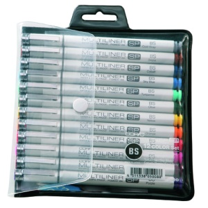 Set de 12 COPIC MULTILINER SP Couleurs Pointe Pinceau