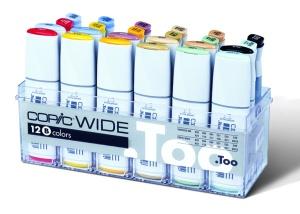 Copic Wide Set B: 12 couleurs + 12 recharges d'encre