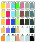 Nuancier des 36 couleurs Copic Wide