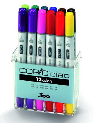 Set Copic Ciao - 12 couleurs