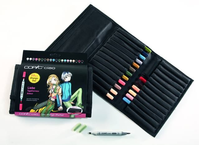 Set Copic Ciao Manga Amour - 20 couleurs + trousse gratuite