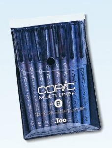 Set de 8 COPIC Multiliners NOIR