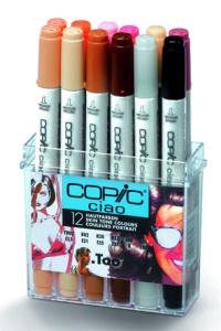 Set Copic Ciao - 12 couleurs Portrait
