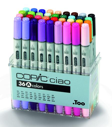 Set Copic Ciao A - 36 couleurs