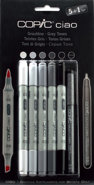 Set Copic Ciao Gris Froids