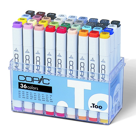 Set Copic Marker - 36 couleurs