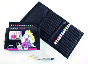 Set Copic Marker: 12 couleurs brillantes + trousse gratuite