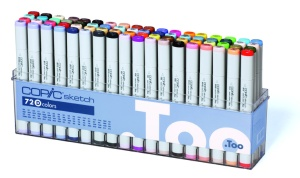 Set Copic Sketch D - 72 couleurs