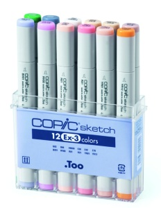 Set Copic Sketch EX-3 - 12 couleurs