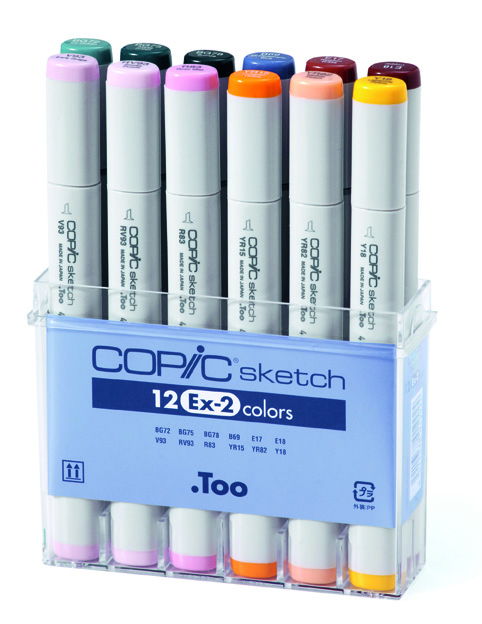 Set Copic Sketch EX-2 - 12 couleurs