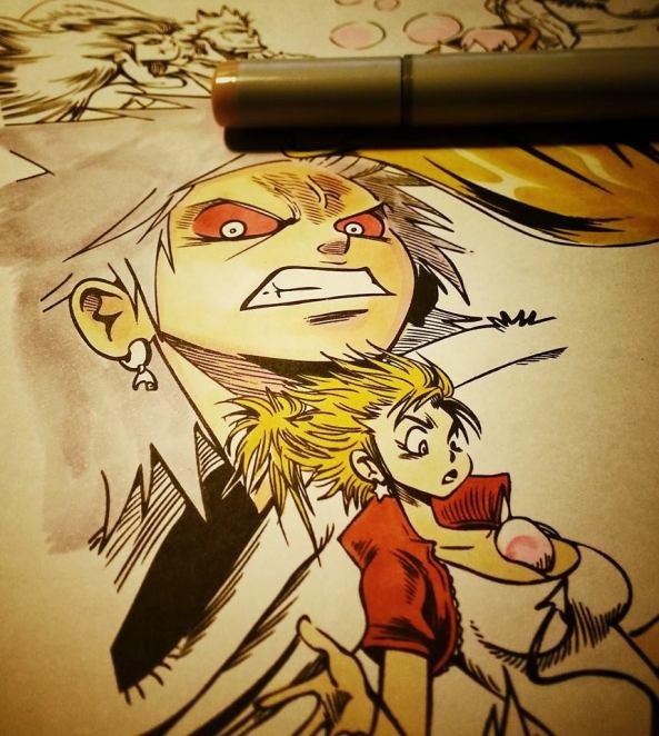 Dreamland, manga français de Reno Lemaire. Colorisation aux feutres à alcool COPIC.