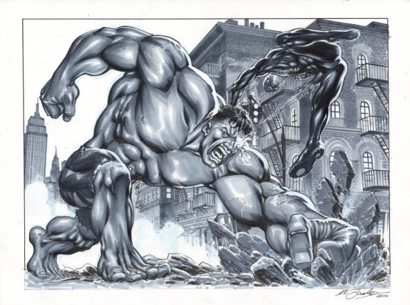 Hulk vs Spiderman final low