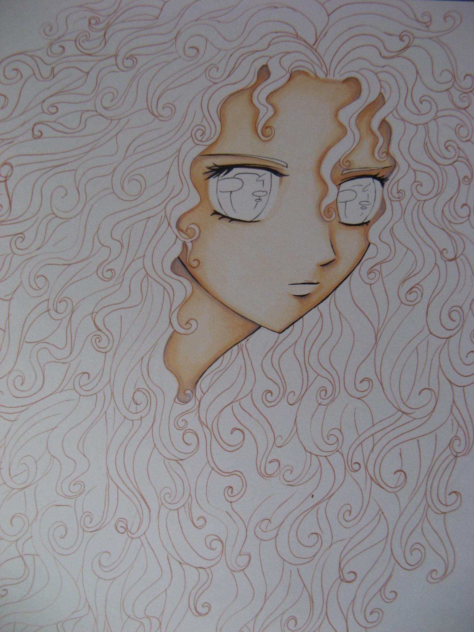 Comment colorier des cheveux roux manga avec copic copic france - Comment colorier un manga ...