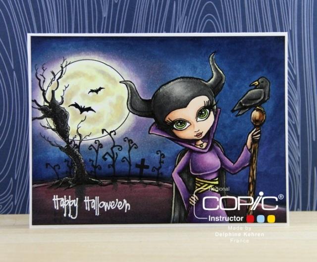 Spooky Scene copyr copic