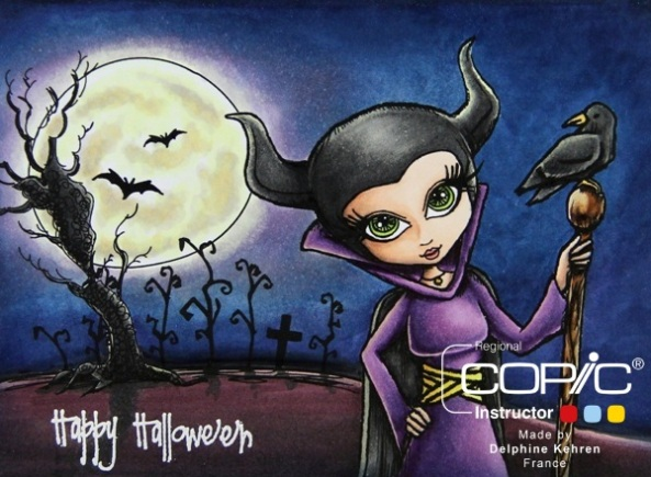 Spooky Scene GP copic